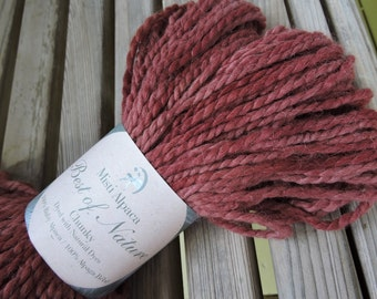 BULKY Weight Yarn - Burgundy Sparkle (BN11) - Misti Alpaca Best of Nature Chunky - Natural Dyes 100g/ 108 yards