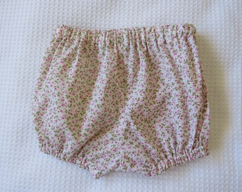 Baby bloomers -Floral baby bloomers -Cotton bloomers-0-3months bloomers-Bloomers with flowers-Pink flowered bloomers