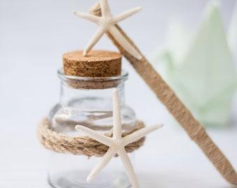 Starfish Wedding Guest Book Pen  Beach Holder Rustic Pen Holder Burlap Pen Guestbook Nautical Wedding