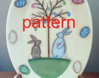 EPATTERN, #0027 Easter Egg Tree , Easter painting pattern, tole painting pattern, bunny epattern, spring pattern, decorative painting, prim
