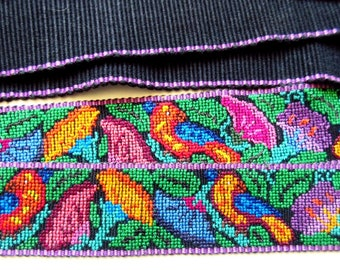 Guatemalan Faja Sash, Vintage Hand Woven Belt Guatemala