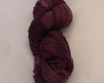 Sangria- Sock Superwash Yarn- Hand Dyed- OOAK- 0016