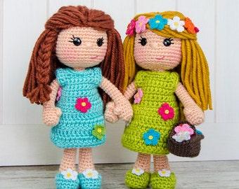 Daisy the Spring Girl Amigurumi - PDF Crochet Pattern - Instant Download - Amigurumi crochet Cuddy Stuff Plush