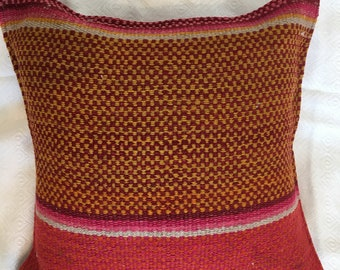 Pink and Yellow Earth Tones Pillow Cover