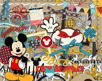 Mickey & Friends Scrapbooking Kit from Carioca Digital