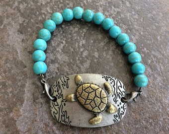 Turtle Beaded Bracelet