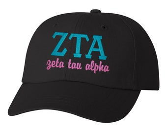 Zeta Tau Alpha, ZTA baseball hat, ZTA hat,  Zeta Tau Alpha hat, Zeta Tau Alpha ladies hat, sorority hat, little big, sorority gift