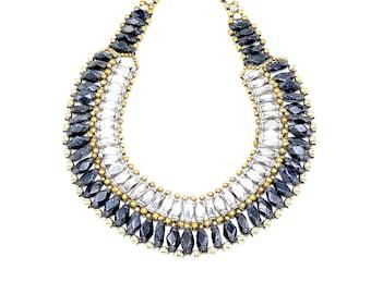Kensie Handmade Collar Necklace - Urbane Sky