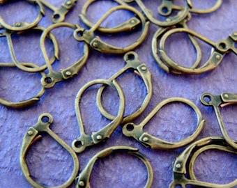 Lead Free 24pcs Antique Bronze Lever Ear Wires