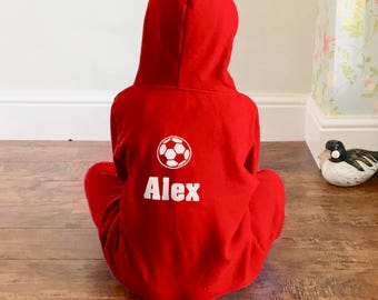 Personalised Kids Football Onesie Football Design All in one for Boys and Girls