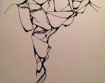 Sludge abstract drawing