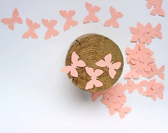 Paper Butterfly Die Cuts Peach, Baptism Decoration, Wedding Butterflies,  Bridal Shower Decor, Butterfly Cut Outs