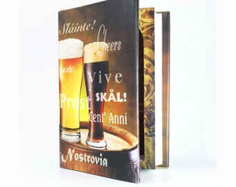 Hollow Book Safe - The Book of BEER Large size Guy Gift