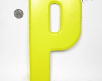 "10"" Vintage Metal Letter  P - Marquee Signage - Letter Sign - Monogram Initial"