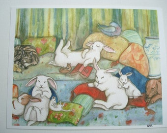 Afternoon Nap - Archival Fine Art Animal Print - Nursery or Child's Room Art