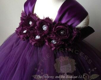 flower girl dress plum, flower girl dress eggplant, flower girl dress, eggplant tutu dress, plum tutu dress, girls dresses, plum dress, tutu