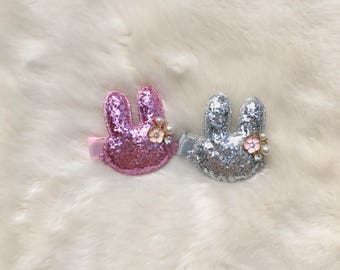 Easter Bunny Hair Clip-Baby Easter Hair accessory-Bunny Hair Clip-Easter Hair Clip
