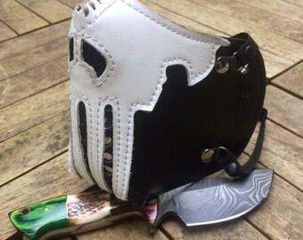 "MasK ""killer bug"" [The Punisher] by SanDiegoChopper (leather black + white) biker / caferacer / bratstyle / chopper"