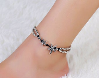 Double Starfish Anklet