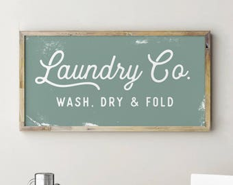 Printable Laundry Co Sign, Laundry Room Decor, Fixerupper Signs, Fixerupper Decor, Farmhouse Decor, Laundry Co Sign White, Laundry Sign