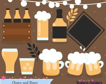 INSTANT DOWNLOAD - Beer Clipart for personal and commercial use
