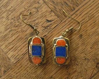 Nepalese earrings - different gemstones