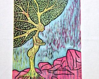 FOREST HAG - Original Woodcut Print