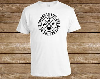 The Best Things in Life are Rescued T-shirt/Pet Rescue/Dog Lover