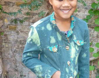 PDF Sewing Pattern childrens jeans jacket Simone as PDF File with Ebook sewing instructions