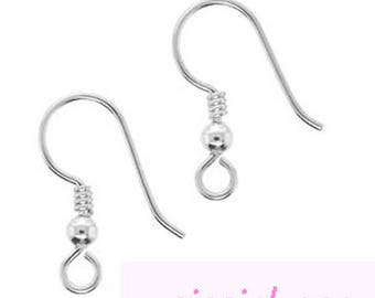 support silver metal X 10 pairs earrings