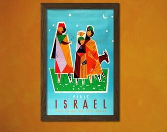 Israel Travel Print Travel Decor Travel Wall Art Israel Poster Israelian Prints Vintage Israel Gift Idea Travel Poster