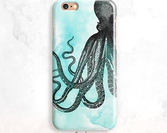 iPhone 8 Case, Octopus iPhone 7 Case, Watercolor iPhone X Case, iPhone SE Case, iPhone 5,Fun iPhone 6 Case, Octopus iPhone 7,iPhone 8 Plus