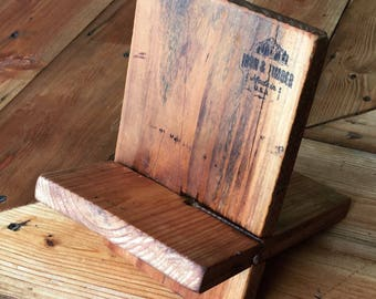 iPhone docking/charging station (Reclaimed Wood)