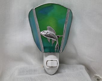 Fish Stained Glass Night Light