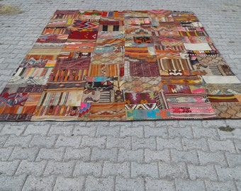"""BIG SALE %50 OFF Turkish kilim rug, bohemian kilim rug,patchwork kilim rug,Anatolian Turkish rug, 8'4"""" x 11'7"""" ft  kilim Rug"""