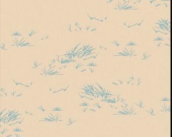 Growth Stone, Bound fabrics, April Rhodes, Art Gallery Fabrics, nature, grass, cream, blue