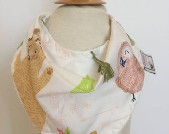 custom bandana bib ~ woodland whimsy ~  drool bib ~ chic couture ~ baby accessories ~ custom bandana bib from lillybelle designs