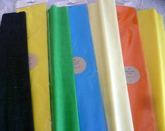 7 rolls crepe color mix