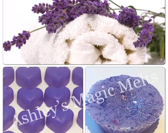 Lavender linen scented wax melts, soy wax melts, lavender wax melts, linen wax melts, fresh wax melts, cheap wax melts, strong wax melts