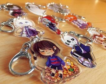 Undertale 【 Clear Acrylic Keychain 】