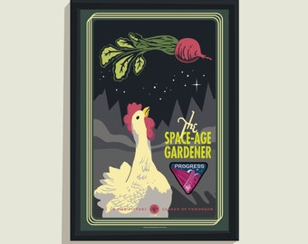 Space Age Gardener - 12x18 poster