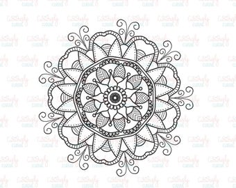 Mandala Coloring Print Out. 5x7.