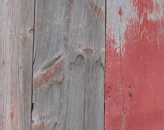 Wide Weathered Grey with Faded Red Barn Wood Boards Reclaimed Barn Siding Reclaimed Barn Wood - Paneling - Free Shipping