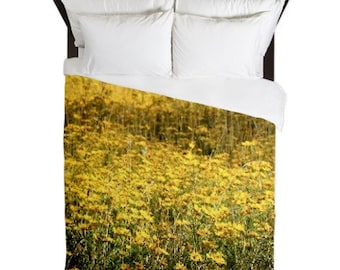 Country Home Decor, Floral Duvet Cover, Farmhouse Chic, Boho Decor, Cottage Chic, Yellow Duvet Cover, Floral Bedding, Rustic Home Decor