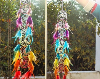 7 Chakra Feather Dream Catcher