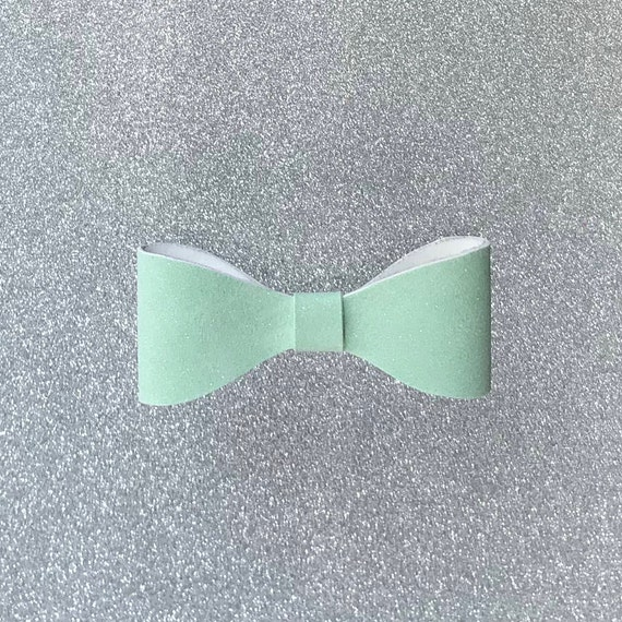 Faux Suede Mint Green Bow