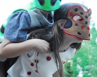 Oregon Spotted Frog Costume - Mask, Vest, Mask & Vest Combo