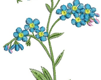 forget-me-not Machine Embroidery Design