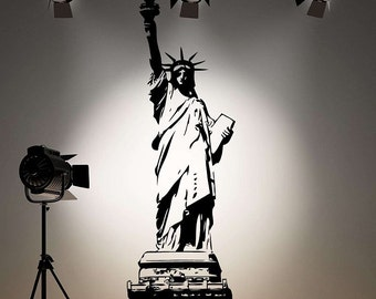 36 inches tall Statue of Liberty Vinyl Wall Decal