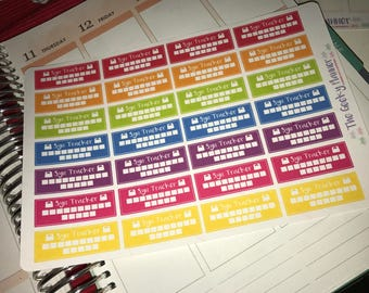 28 RAINBOW Slimming world  syn tracker Planner Stickers  happy planner filofax recollections etc